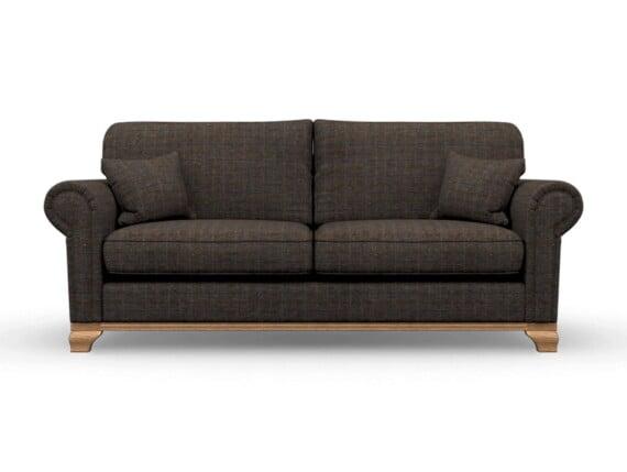 Harris Tweed Herringbone Charcoal, Lavenham Large Sofa in Harris Tweed