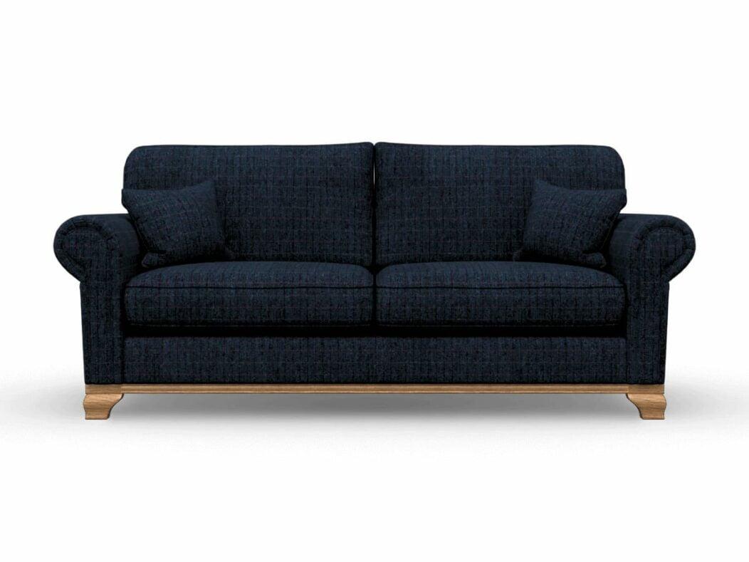 Harris Tweed Herringbone Denim, Lavenham Large Sofa in Harris Tweed