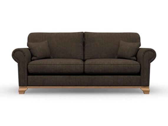 Harris Tweed Herringbone Forest, Lavenham Large Sofa in Harris Tweed