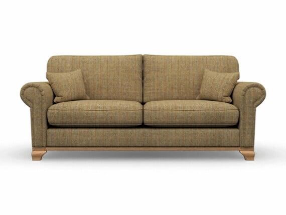 Harris Tweed Herringbone Moss, Lavenham Large Sofa in Harris Tweed
