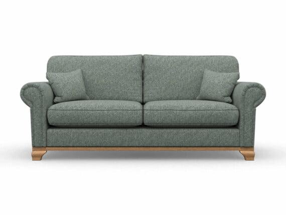 Harris Tweed Herringbone Slate, Lavenham Large Sofa in Harris Tweed