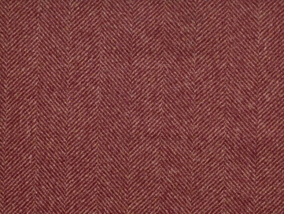 Large herringbone Rust Moon furnishing pure wool fabrics