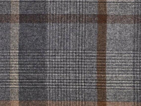Plaid Taupe Moon Furnishing pure wool fabric