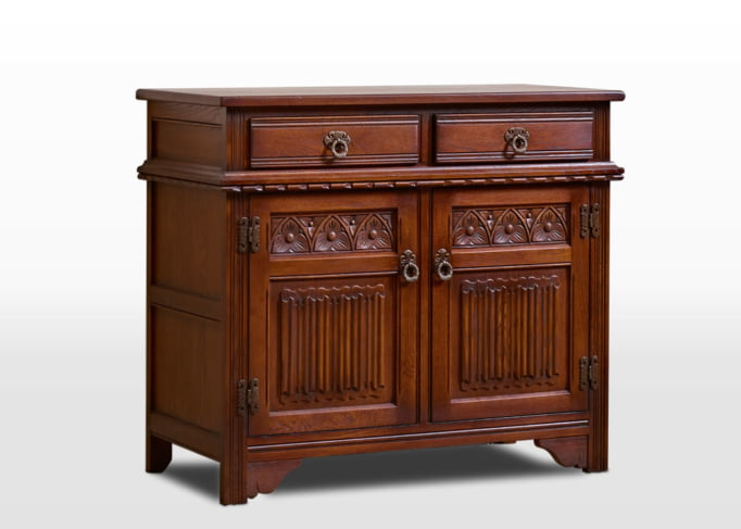 Old Charm Sideboard in Chestnut Traditional Angled Image