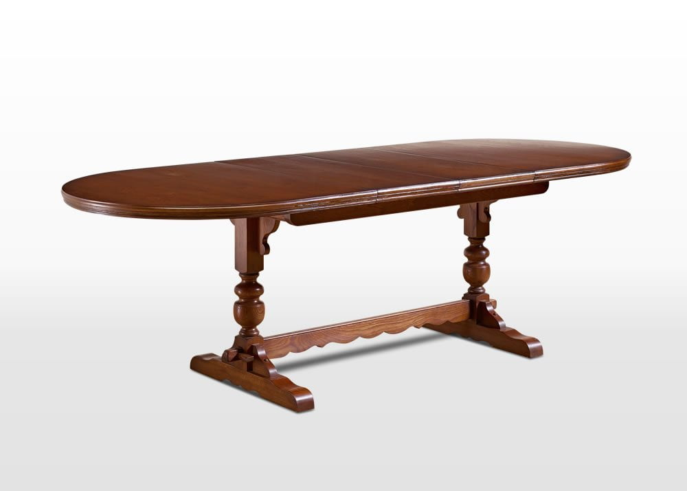 Old Charm Lancaster Table in Light Oak Traditional Angled Image
