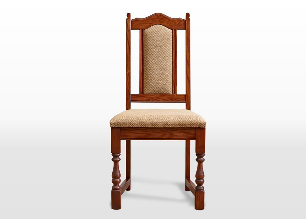 Old Charm Dining Chair In Chestnut Traditional Straight On Image