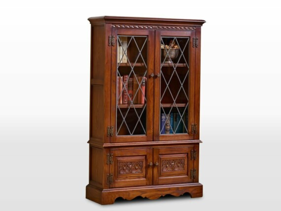 Old Charm Bookcase in Chestnut Traditional Angled Image