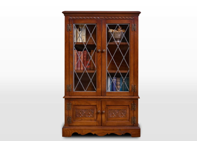 Old Charm Bookcase in Chestnut Traditional Straight on Image