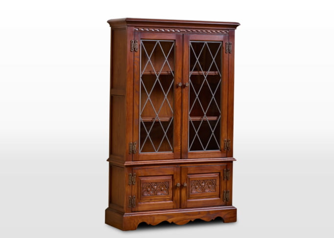Old Charm Bookcase in Chestnut Traditional Image