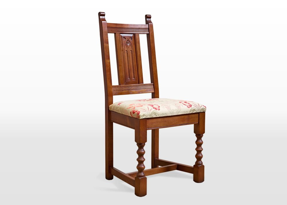 Old Charm Dining Chair In Light Oak Traditional Straight On Image