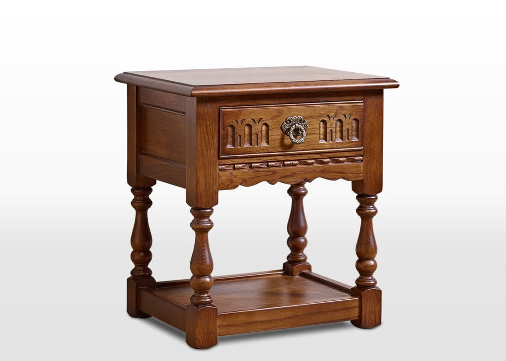 Old charm lamp table wood bros old charm lamp table in light oak traditional angled image aloadofball Images