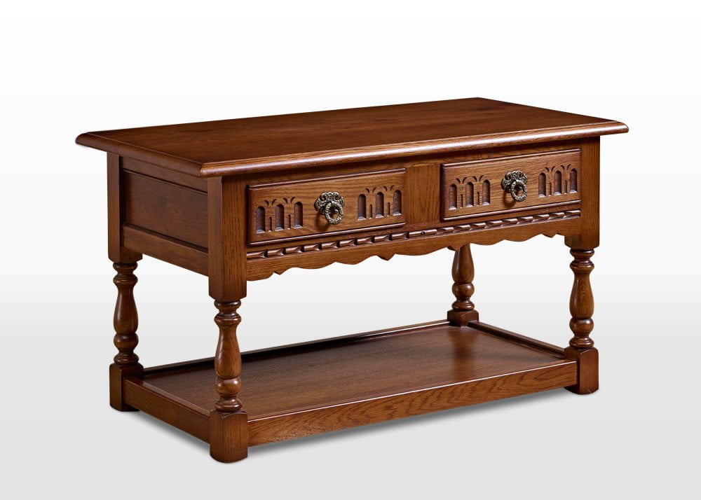 Old Charm Occasional Table in Light Oak Traditional Angled Image