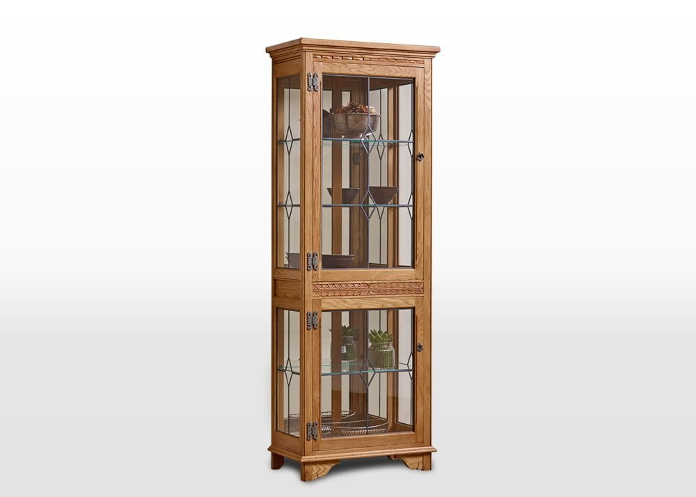 Old Charm Display Cabinet in Vintage Traditional Angled Image