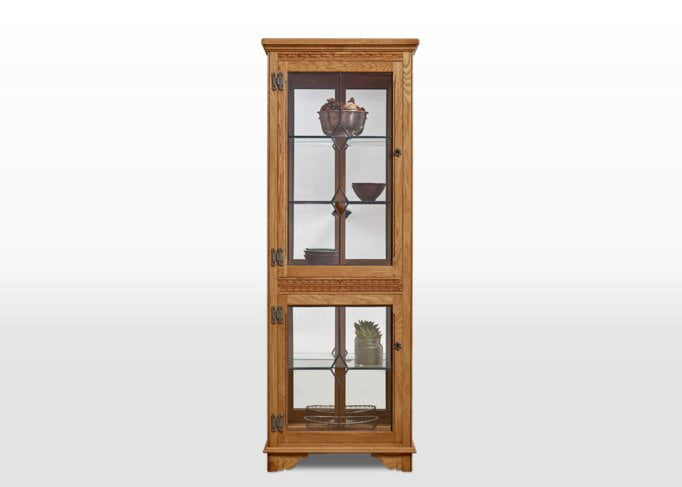 Old Charm Display Cabinet in Vintage Traditional Straight on Image