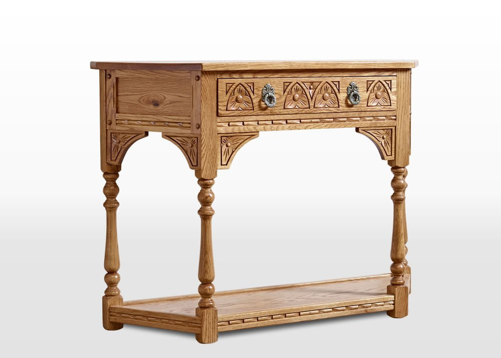 Old Charm Canted Console Table in Vintage Traditional Angled Image