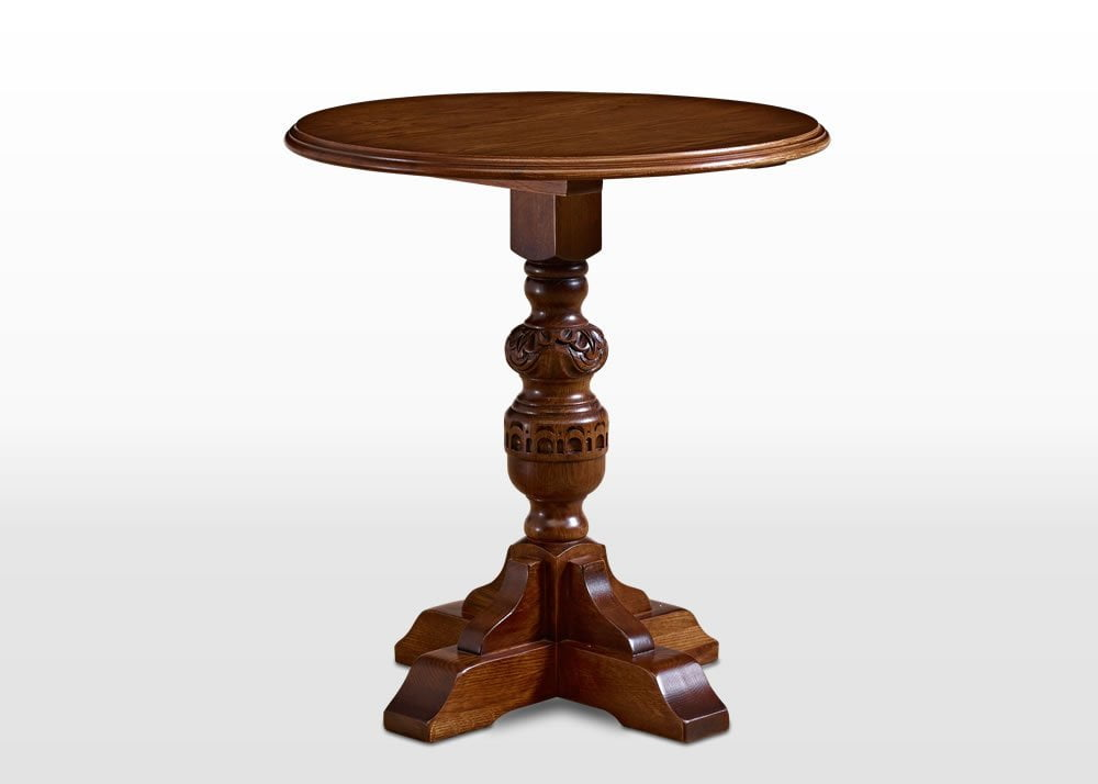 Old Charm Wine Table in Light Oak Traditional Angled Image