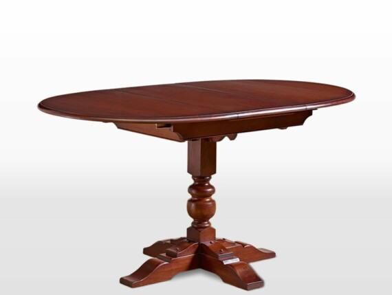 Old Charm Aldeburgh Dining Table in Chestnut Traditional Angled Image