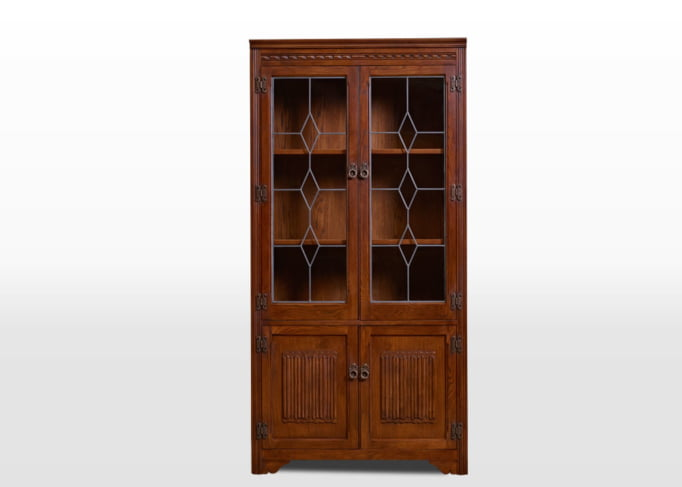 Old Charm Bookcase in Tudor Brown Traditional Image
