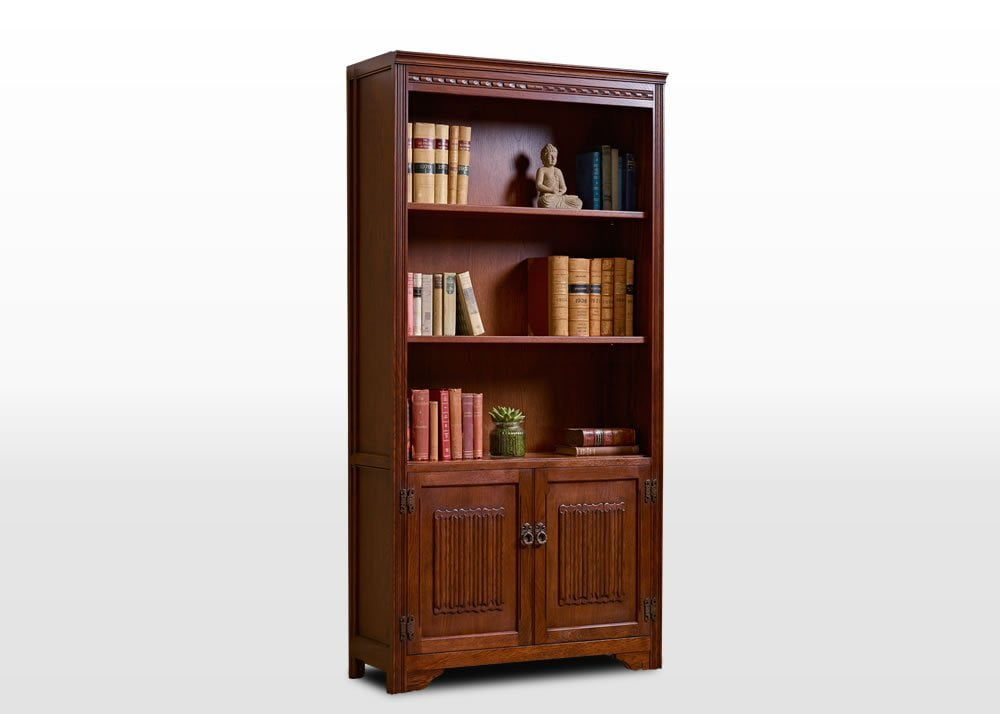 Old Charm Bookcase : Old charm bookcase wood bros