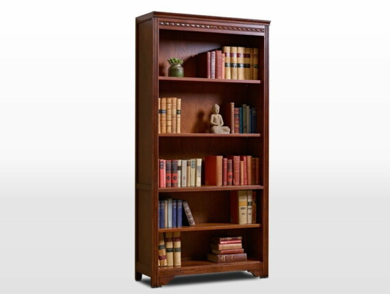 British Design Old Charm Bookcase Open