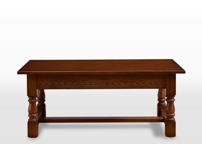 Old Charm Coffee Table in Light Oak Traditional Straight on Image