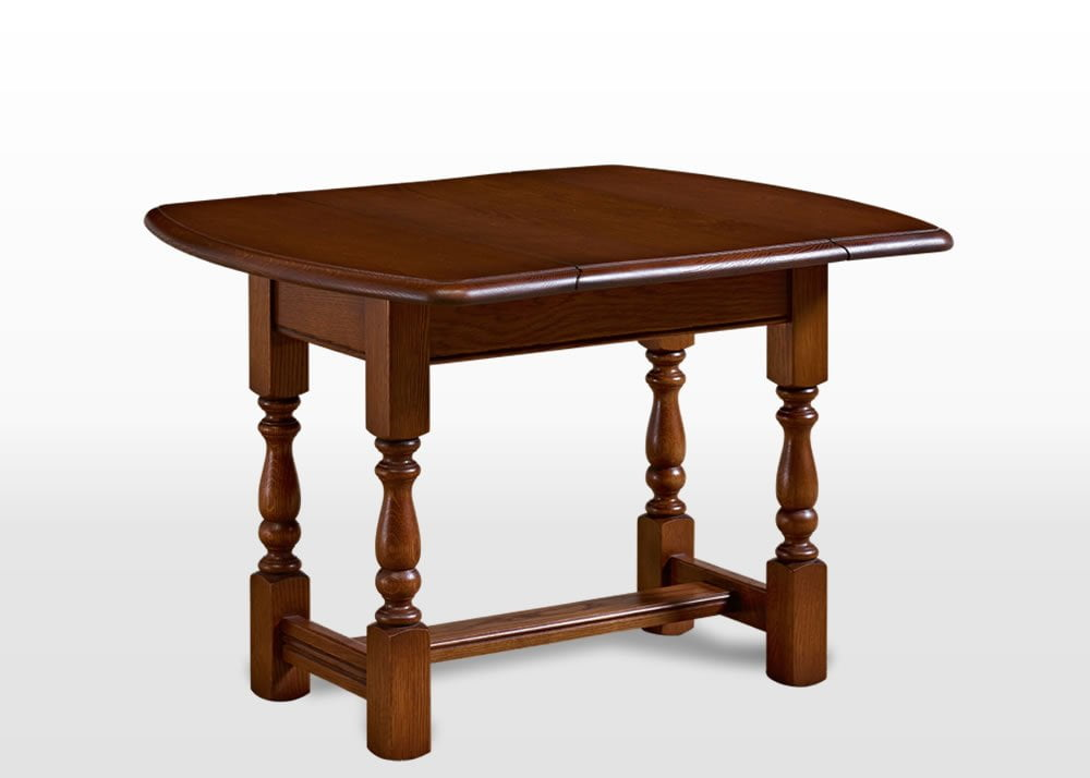 Old Charm Swivel Top Table In Light Oak Traditional Angled Image