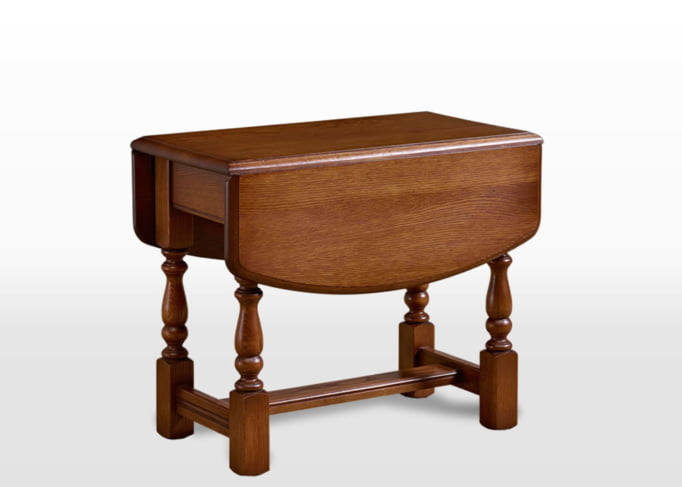 Old Charm Swivel Top Table in Light Oak Traditional Straight on Image