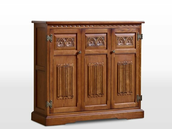 Old Charm DVD Cabinet in Light Oak Traditional Angled Image