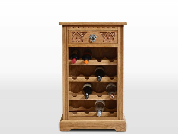 Old Charm Wine Rack in Vintage Traditional Straight on Image
