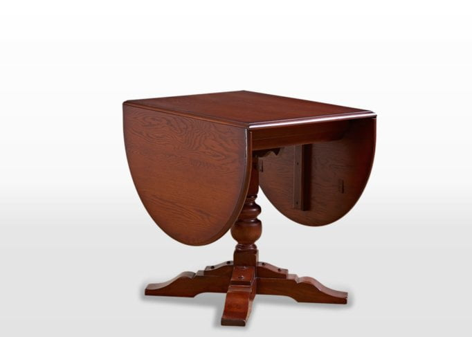 Old Charm Dining Table in Chestnut Traditional Straight on Image