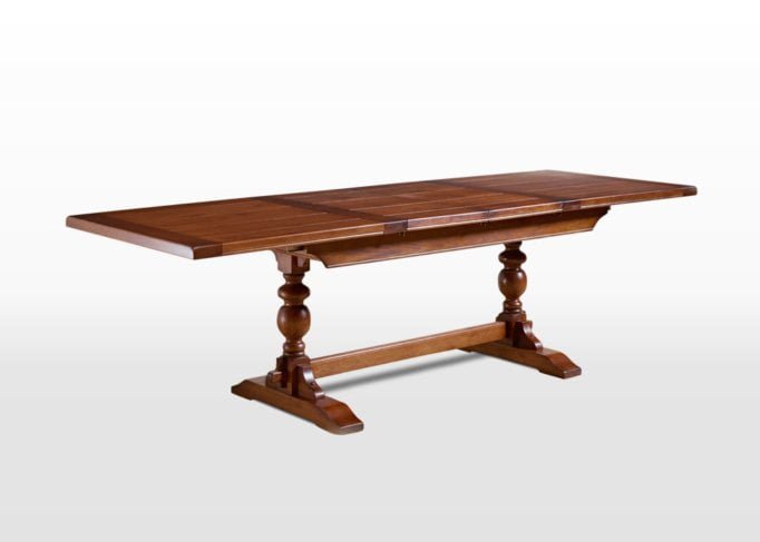 Old Charm 6ft Lambourn Table in Light Oak Traditional Angled Image