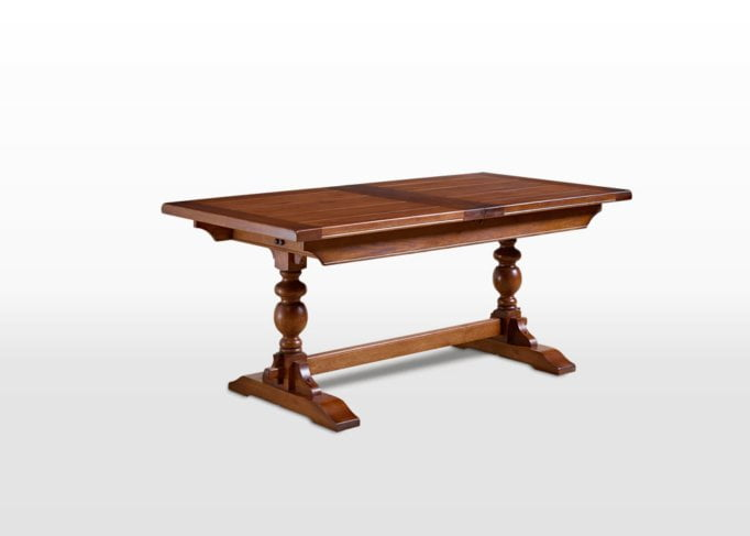 Old Charm 6ft Lambourn Table in Light Oak Traditional Straight on Image