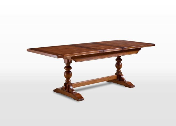 Old Charm 6ft Lambourn Table in Light Oak Traditional Image
