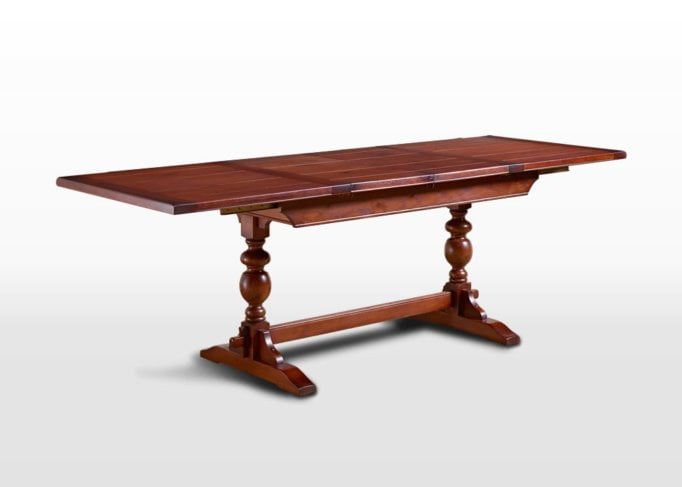 Old Charm 5ft Lambourn Table in Chestnut Traditional Angled Image