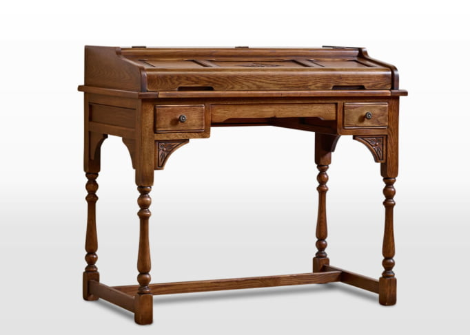 Old Charm Writing Desk in Chestnut Traditional Angled Image