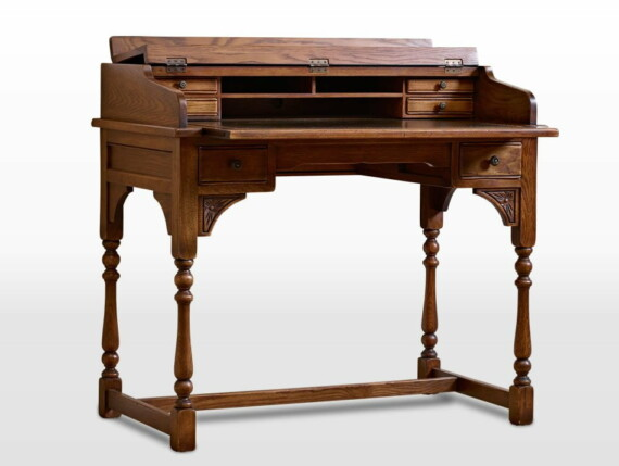 Old Charm Writing Desk in Chestnut Traditional Straight on Image