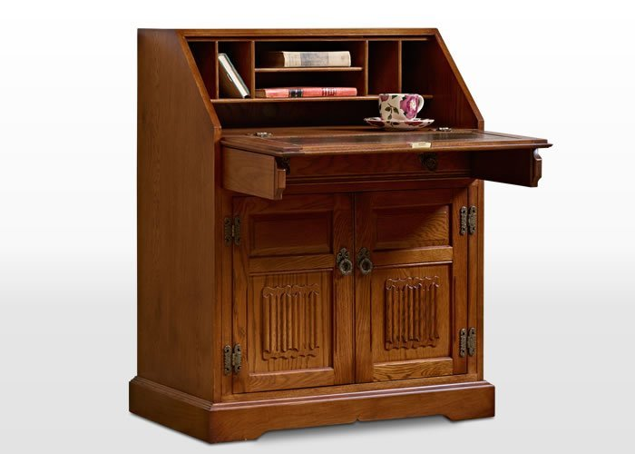 Old Charm Rose Bureau in Light Oak Traditional Straight on Image