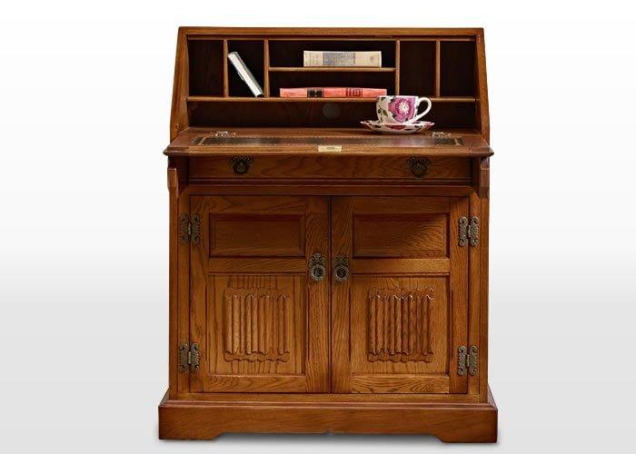 Old Charm Rose Bureau in Light Oak Traditional Image