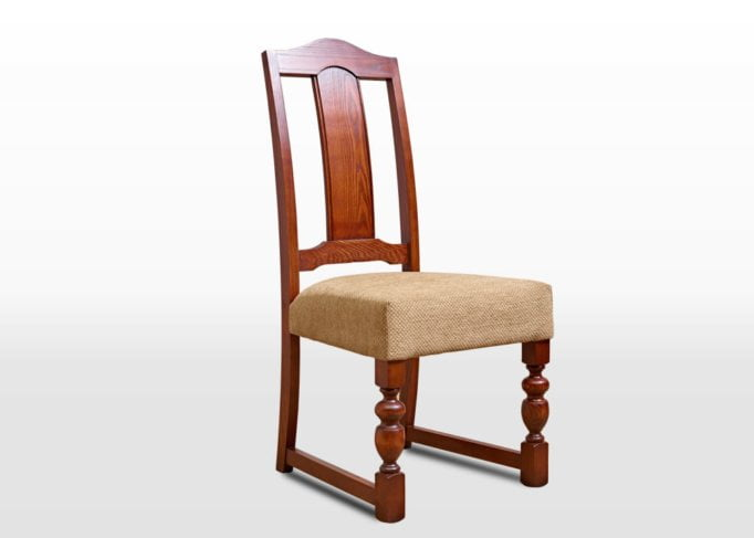 Old Charm Dining Chair in Chestnut Traditional Angled Image