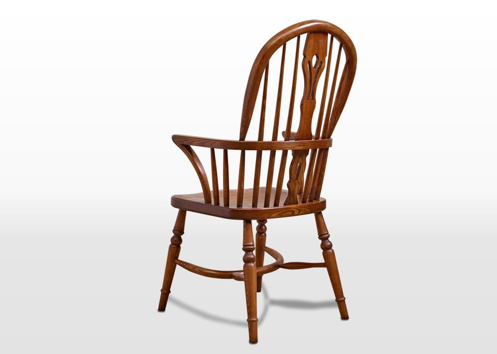 Old Charm Windsor Armchair In Light Oak Traditional Angled Image
