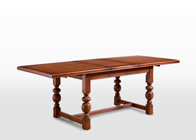 Old Charm Buckingham Dining Table in Chestnut Traditional Angled Image