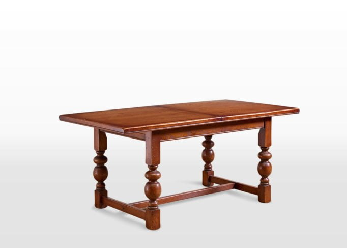 Old Charm Buckingham Dining Table in Chestnut Traditional Straight on Image