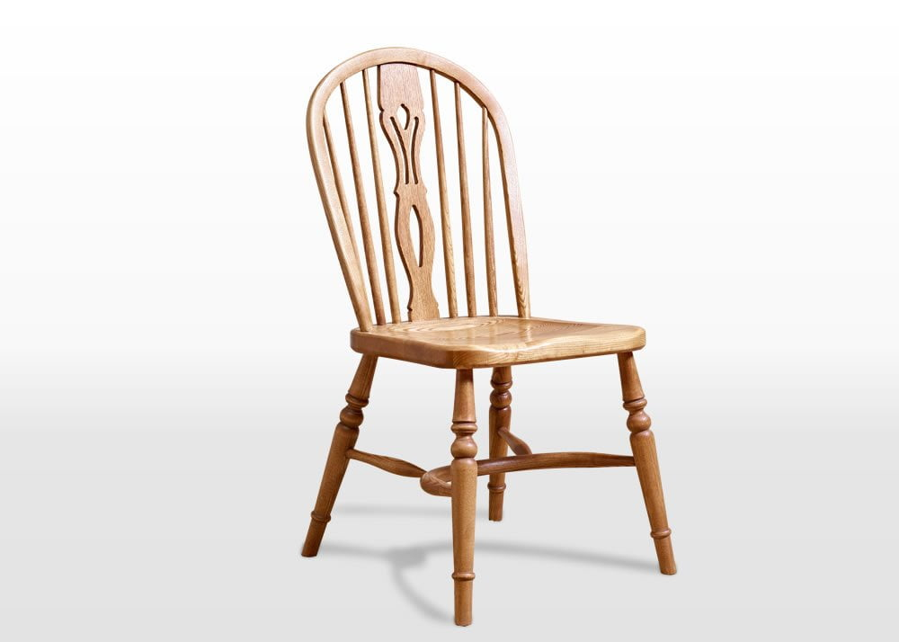 Old Charm Windsor Chair In Vintage Traditional Angled Image
