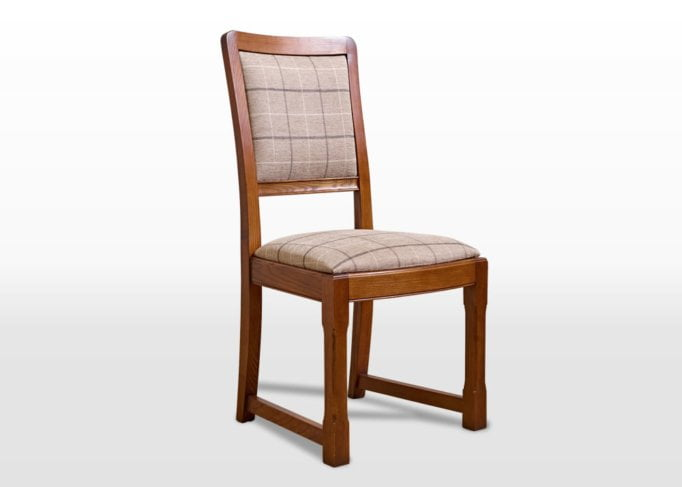 Old Charm Dining Chair in Light Oak Traditional Angled Image