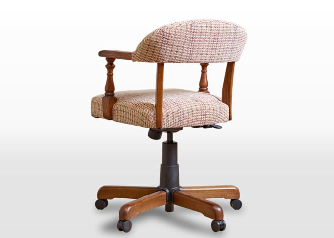 Old Charm Captains Chair in Vintage Traditional Straight on Image