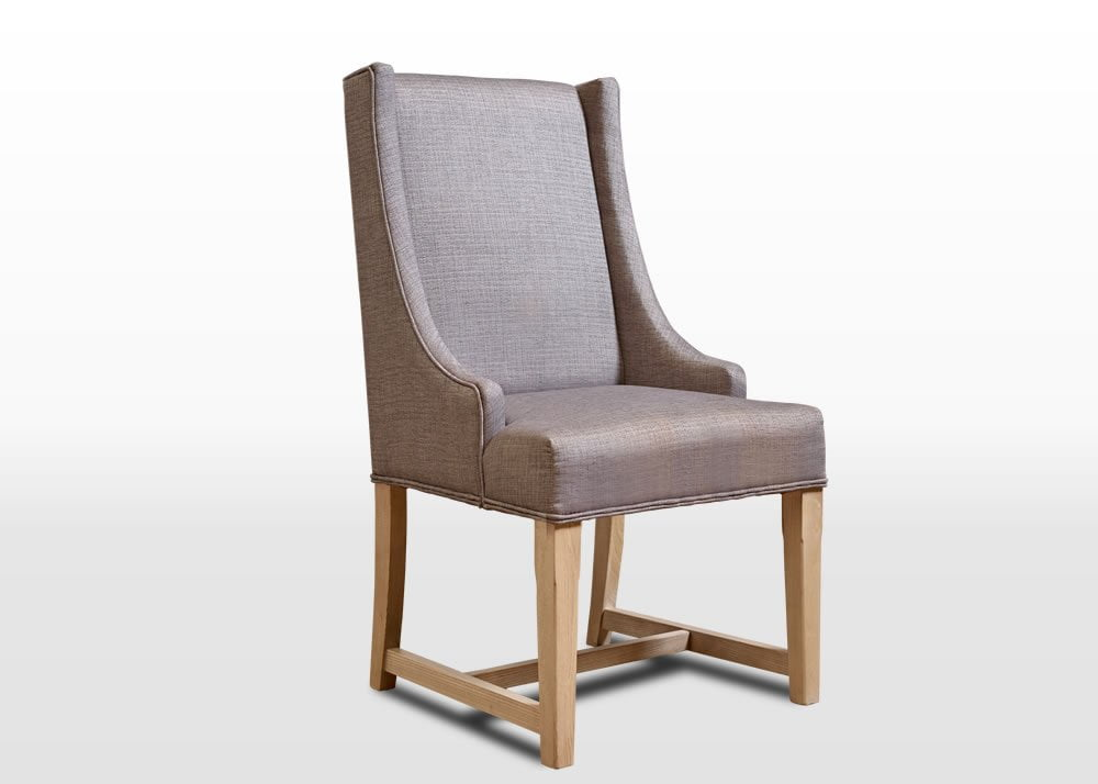 Old Charm Dining Chair in Fumed Oak Traditional Angled Image