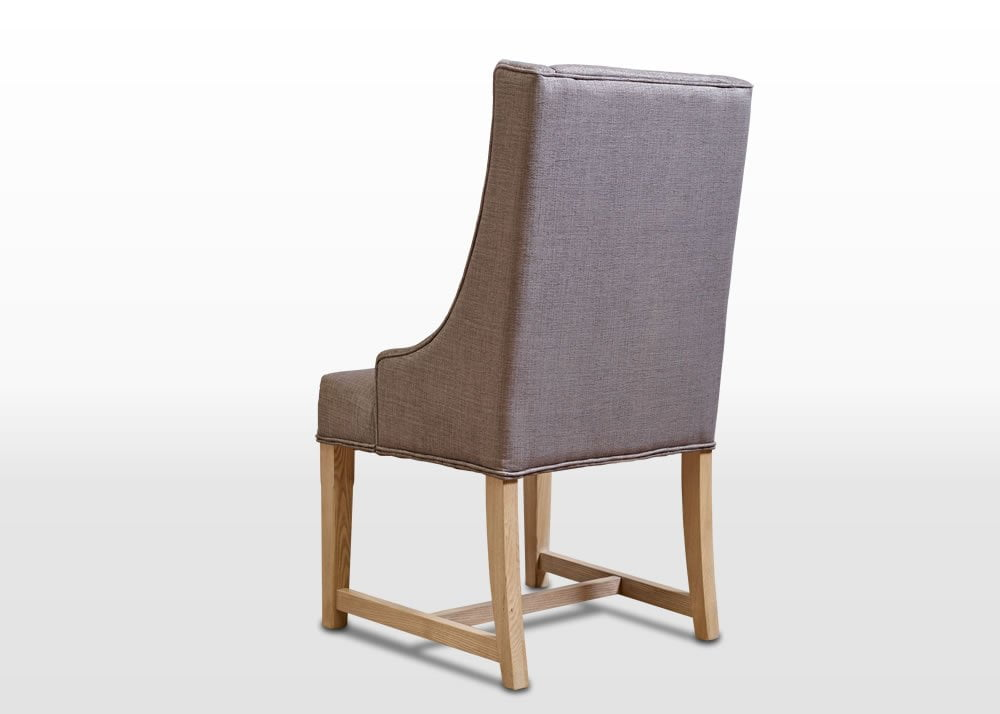 Old Charm Dining Chair In Fumed Oak Traditional Straight On Image
