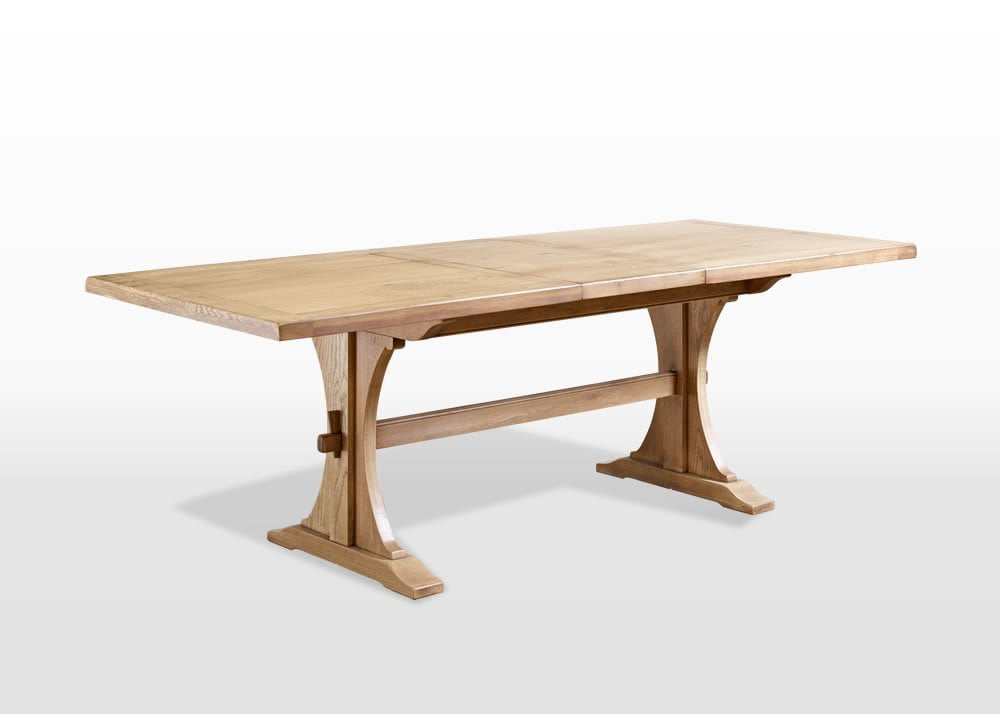 Old Charm 6ft Lichfield Dining Table in Fumed Oak Traditional Angled Image