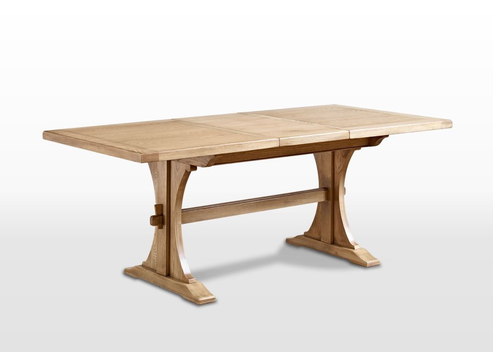 Old Charm 5ft Lichfield Dining Table in Fumed Oak Traditional Angled Image