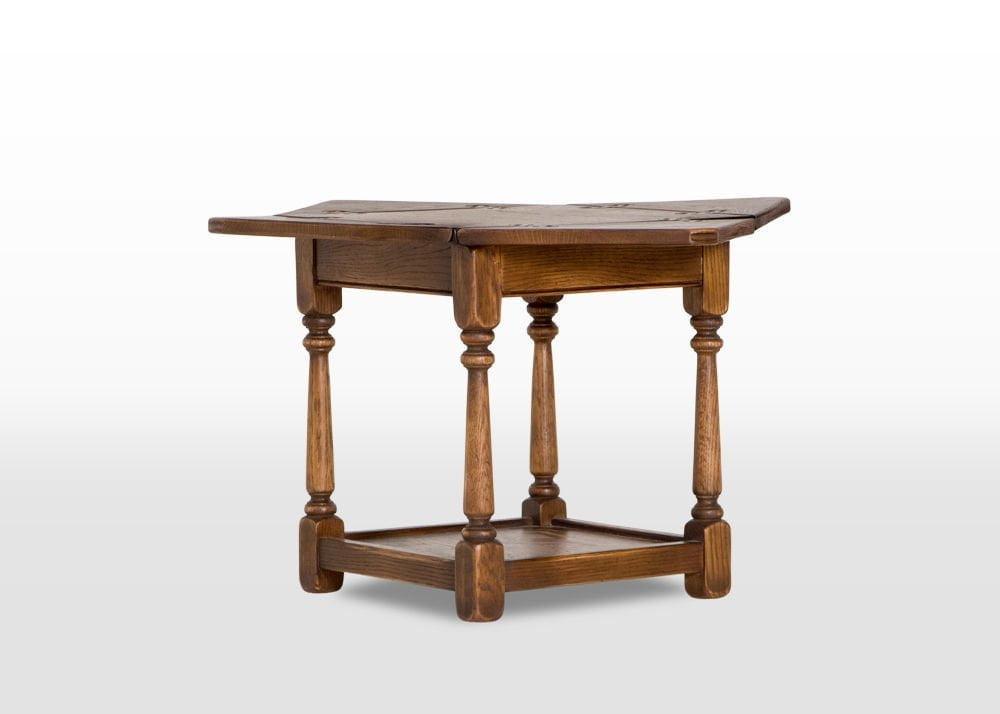 Old Charm Flip Top Table in Light Oak head on image